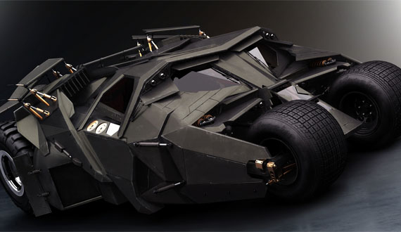 dark knight rises new batmobile Kereta Batman Design Terbaru