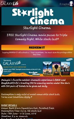 redeem starlight cinema