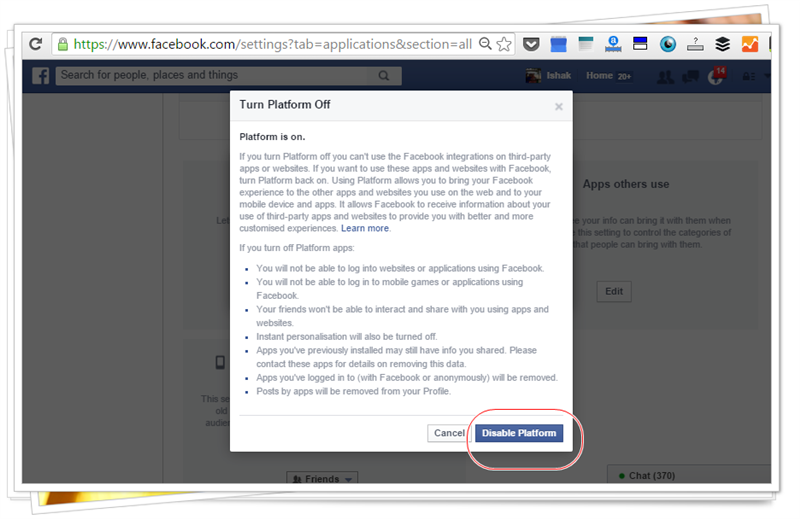 cara-elakkan-fb-kena-hack-disable