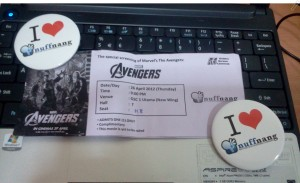 the avengers ticket