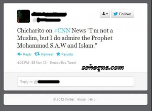 i'm not a muslim, but i do admire prophet muhammad s.s.w and islam